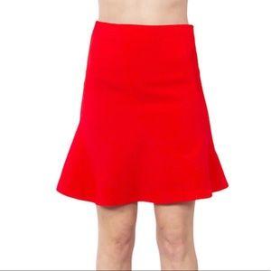 Sugar lips red flared mini skirt